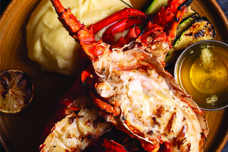 Spiny Lobsters at King's Fish House